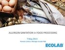 Allergen Sanitation in Food Processing