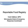 Reportable Food Registry